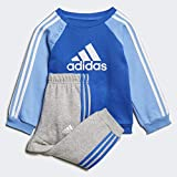 adidas I Logo Jogger Fleece Sweatshirts Unisex - Kids, unisex_child, ED1159, Blue/White, 1218