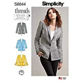 Simplicity Pattern S8844 Miss Petite Unlined Blazer, H5 (6-8-10-12-14) White