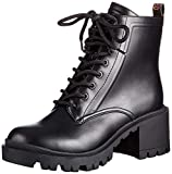 GUESS Women's Magaly/Stivaletto (Bootie)/LEA Combat Boot, Black, 2 UK