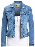 SS7 Womens Premium Stretch Denim Jacket (10, Blue Denim)