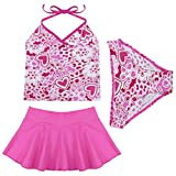 iiniim Girls Kids Tankini Set Swimwear Bikini Skirt Swimsuit Swimming Costume Age 2-14 Years Hot...
