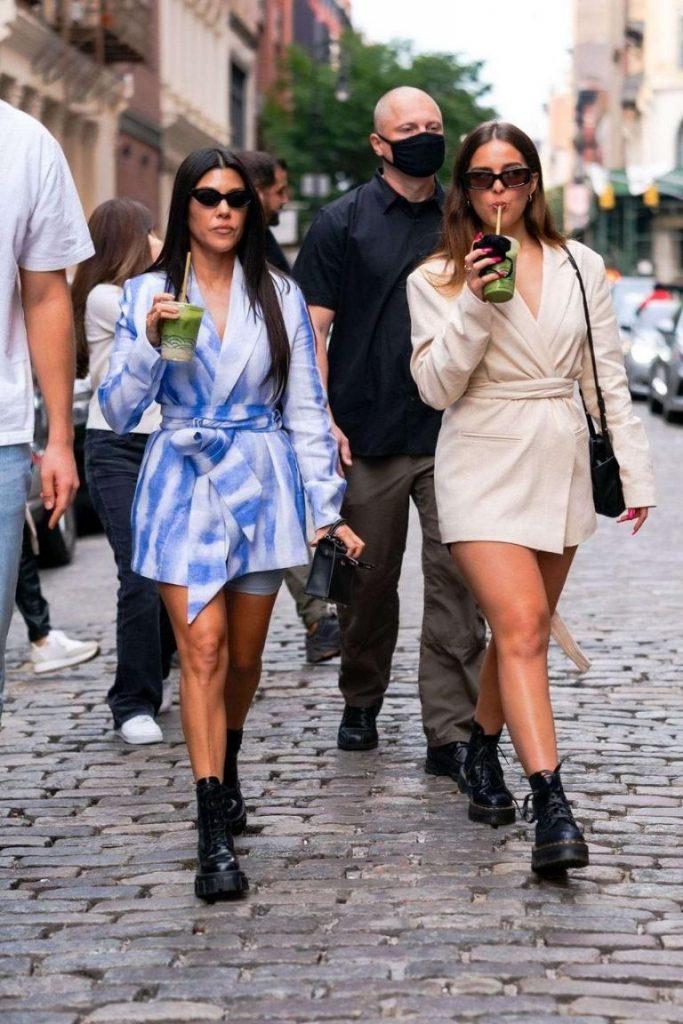 Kourtney Kardashian combat boots